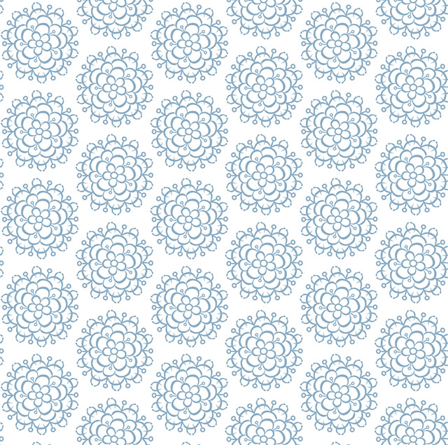 blue floral decor repeat surface design pattern for wallpaper