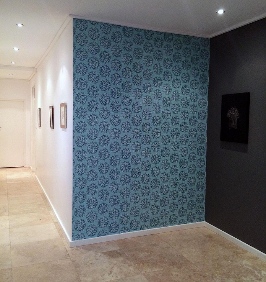 Hydrangea pattern wallpaper