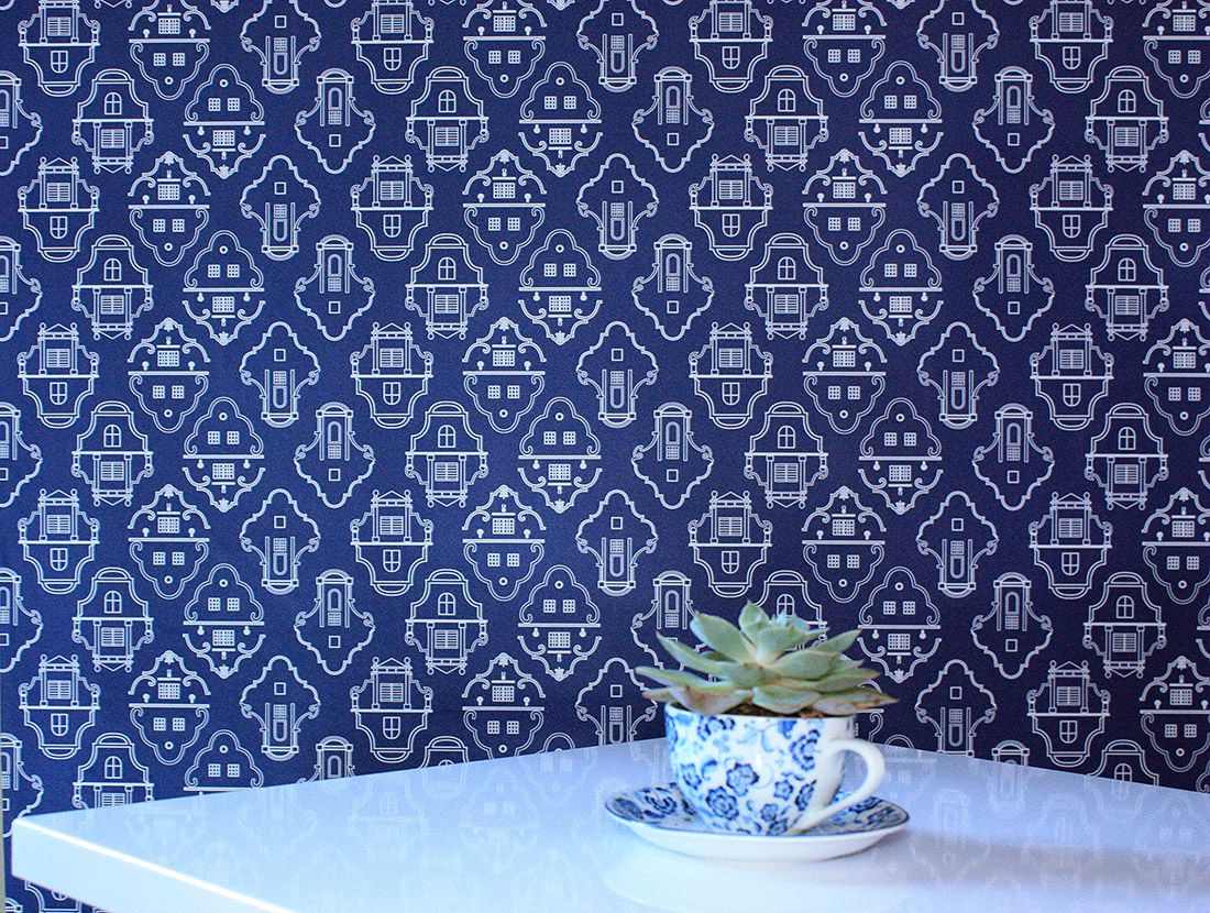 Cape Gables pattern wallpaper