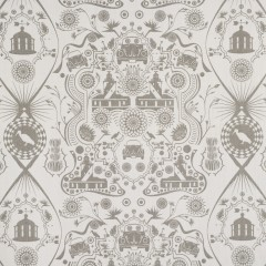 Beetle and lighthouse fabric