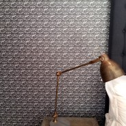 Bedroom wallpaper in luxury guest house