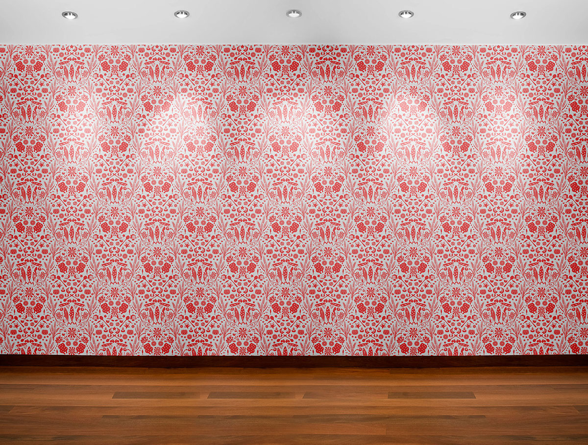 delicacies and vitals wallpaper pattern