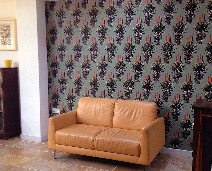 aloe pattern wallpaper