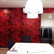 Hibiscus in fashion house showroom