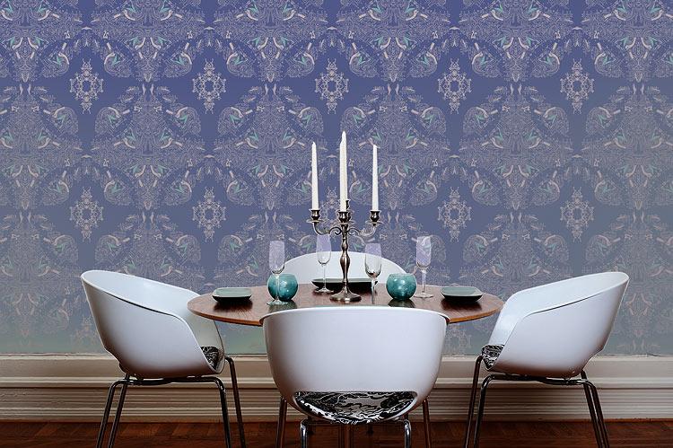 fine lines and diamonds pattern wallpaper