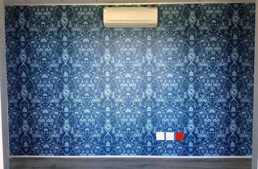 wallpaper in waiting room
