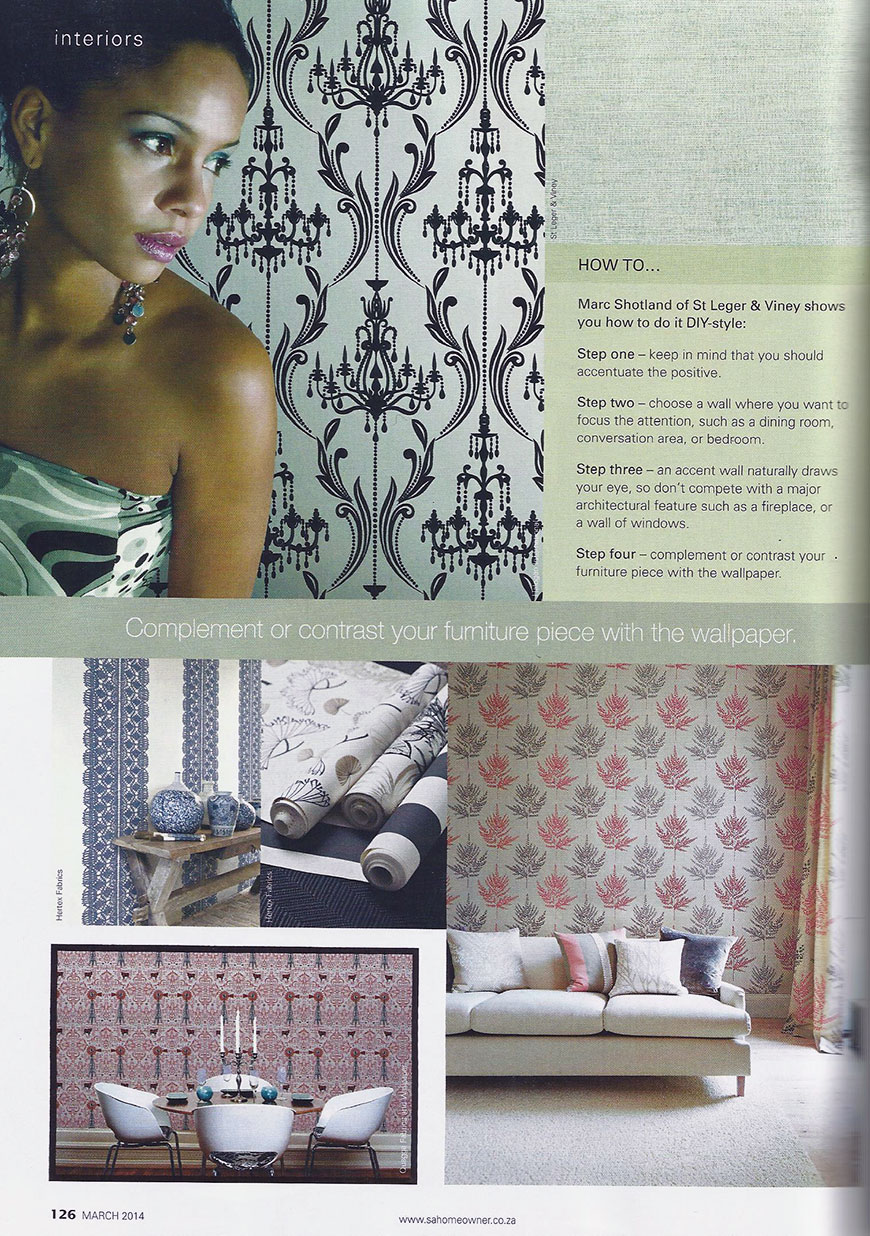 South African Home Owner Magazine - March 2014