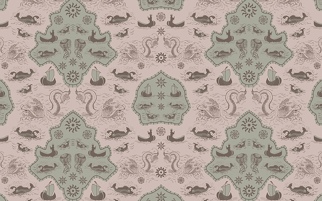 surface pattern - green gray