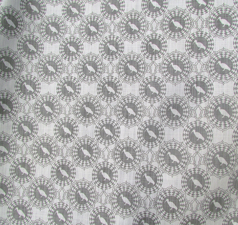 grey-on-off-white hadeda fabric pattern