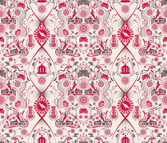 contemporary wallpaper pattern