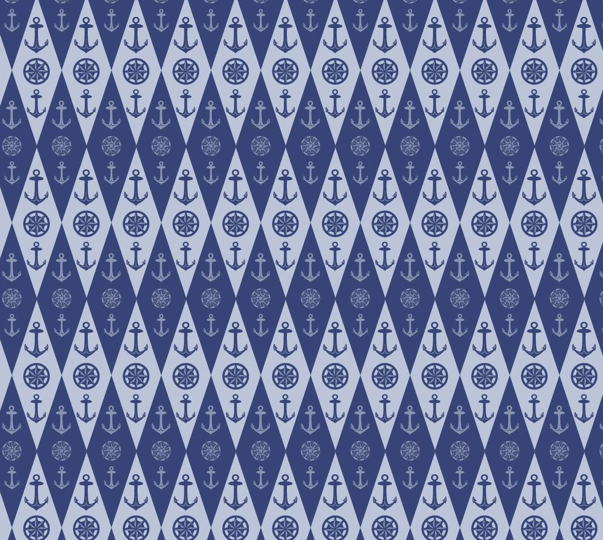 Stylish nautical themed surface pattern design