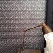 Bedroom wallpaper in luxury guest house