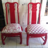China chairs covered with Quagga fabric