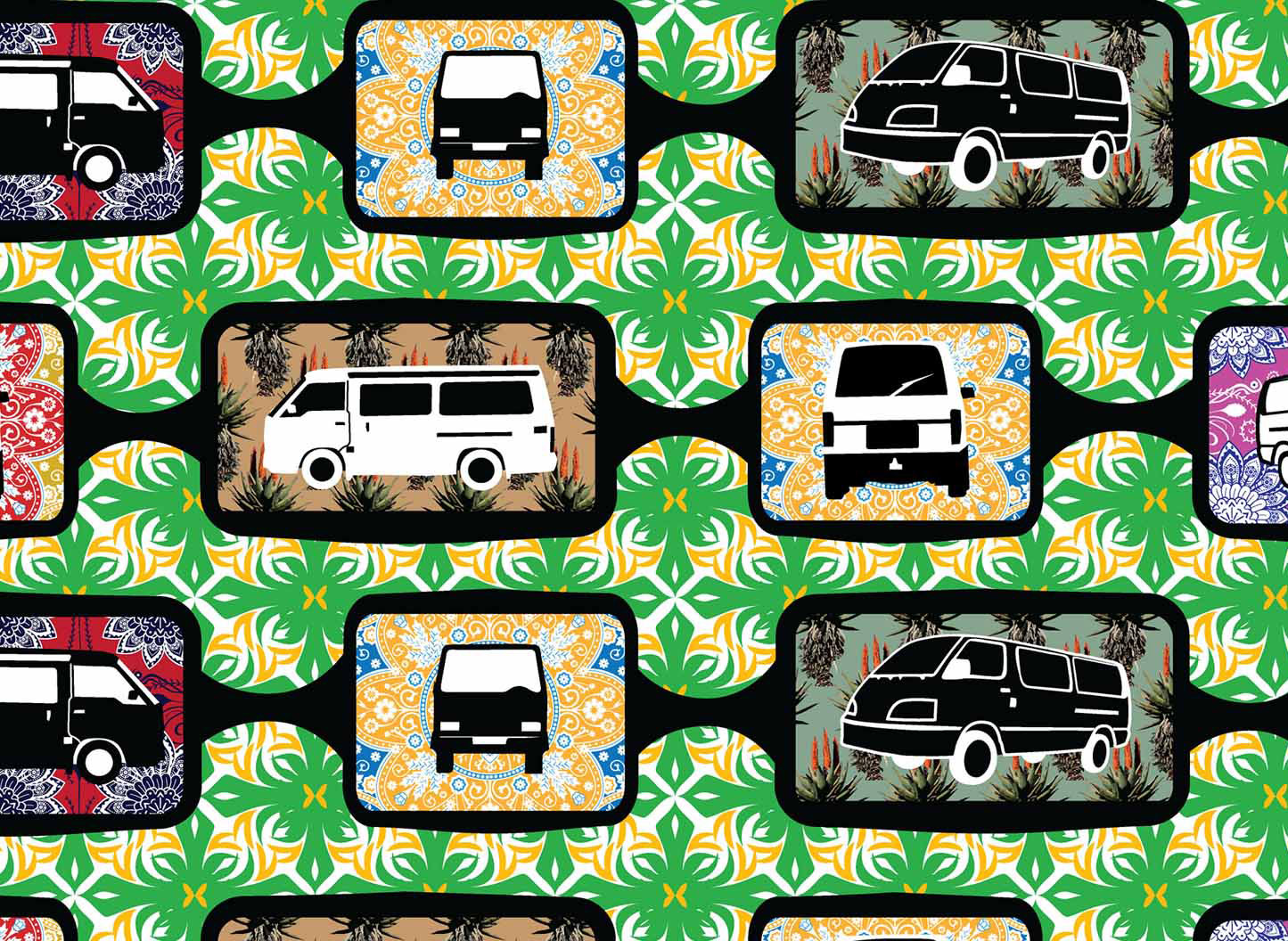 Linking Paradise pattern for wallpaper