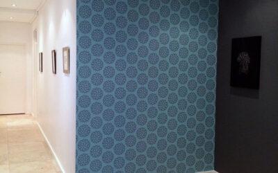 Hydrangea pattern wallpaper in Cape Town