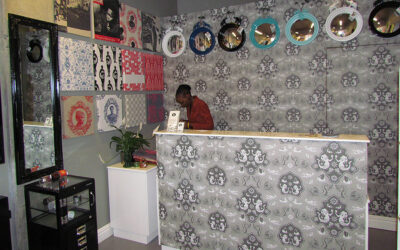 Customised Sea Monster design for small decor store wallpaper